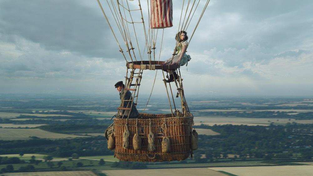 Eddie Redmayne and Felicity Jones are filmed at 2,000 feet