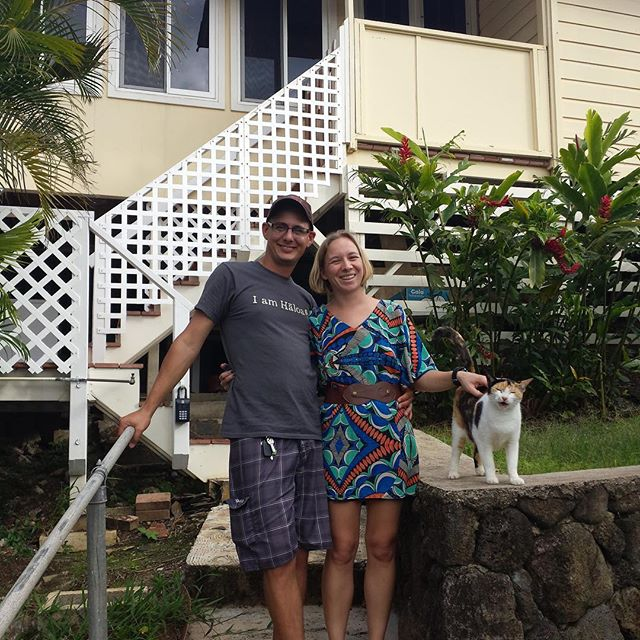 Today we said aloha to our house! 4 years have passed and so much has changed. The trees have grown, kitchen remodeled, cat lived a good life until her recent passing. Moving onto to new adventures #labound #luckywelivehawaii