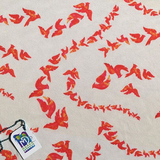 """""""Cardinal Capers"""" fabric for all seasons! At my Spoonflower shop! #surfacedesigner #surfacedesign #patterndesign #surfacepatterndesign #textiledesign #fabricdesign #textiledesigner #fabricdesigner  #printandpatterndesign #patternillustration #spoonflower #society6 #cardinals #birds #red birds #flying birds"""