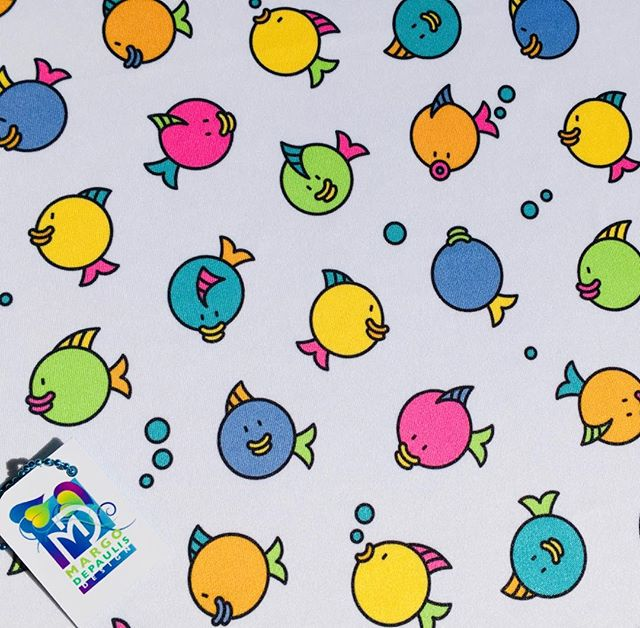 "Silly ""Bubbly Fish""! More fun with circles! #surfacedesigner #surfacedesign #patterndesign #surfacepatterndesign #textiledesign #fabricdesign #textiledesigner #fabricdesigner  #printandpatterndesign #patternillustration #spoonflower #society6 #fish #bubbles #circles #kids #cute"