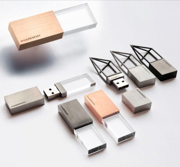 Flash drives available in various capacities.