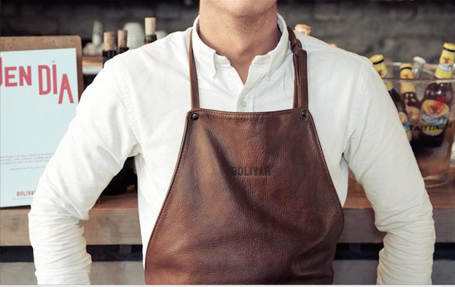 Artisan aprons in different fabrics such as leather or canvas.