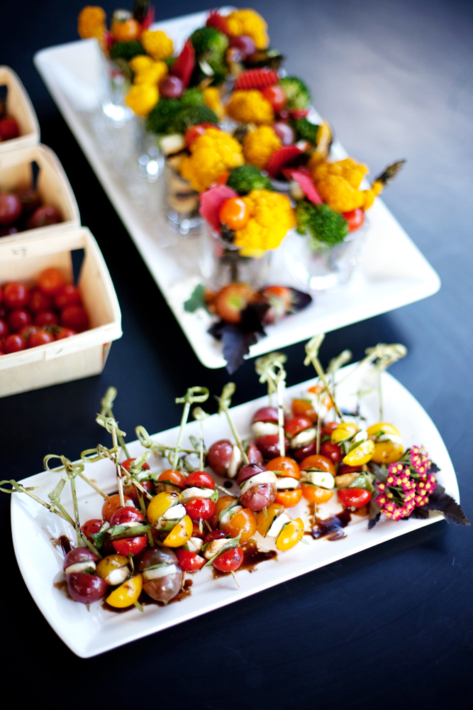 Caprese Salad Skewers (balsamic reduction) on buffet.jpg