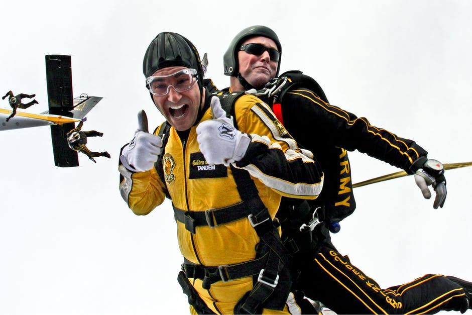 Air bound - Is this on your bucket list? Get on a once in a lifetime experience of falling from more than 10000 feet in the air. Feel your heart skip a beat with this breathtaking experience