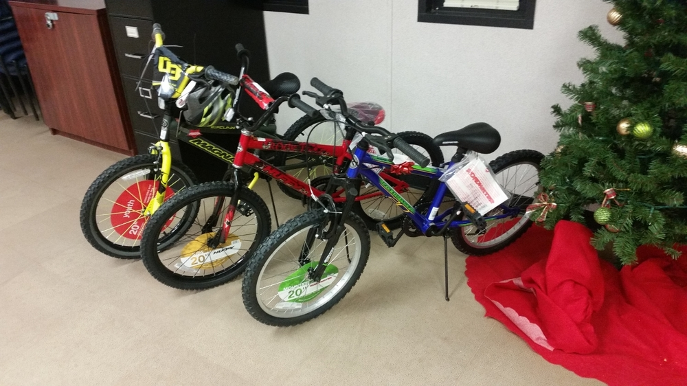 Some Agents even bought bikes for the children.