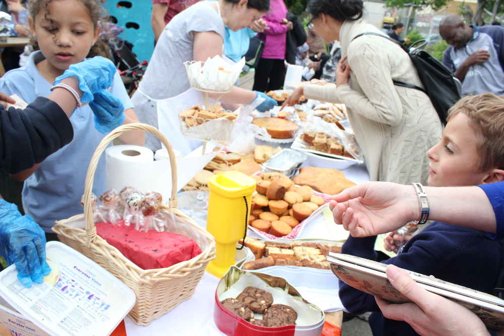Our first Triangle cake sale in 2013.