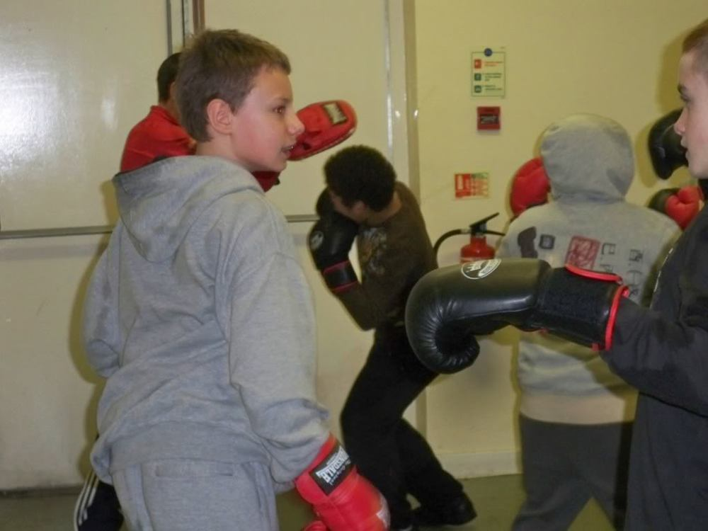 Danny, aged 12 attending a Triangle boxing session in 2009