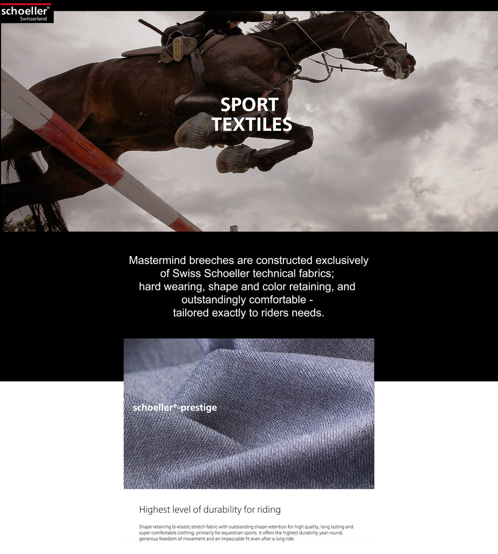 Equestrian textiles Schoeller fabrics InvisiTech