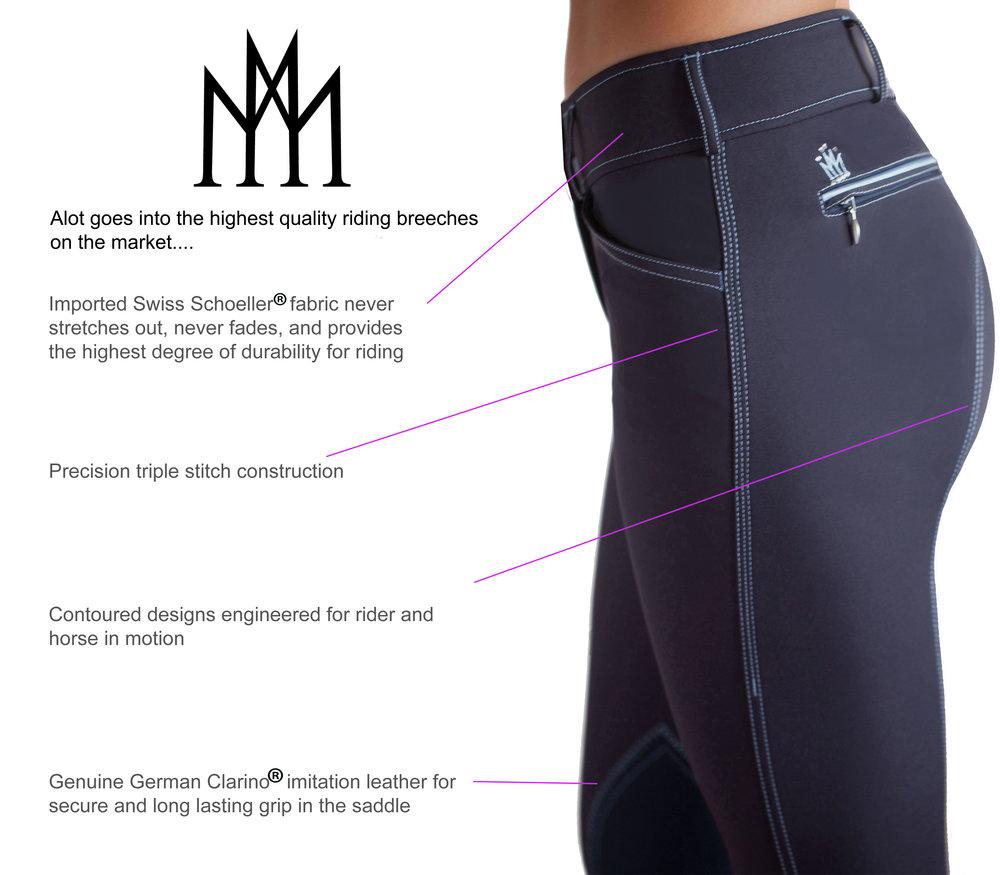 Mastermind Equestrian apparel Schoeller fabric
