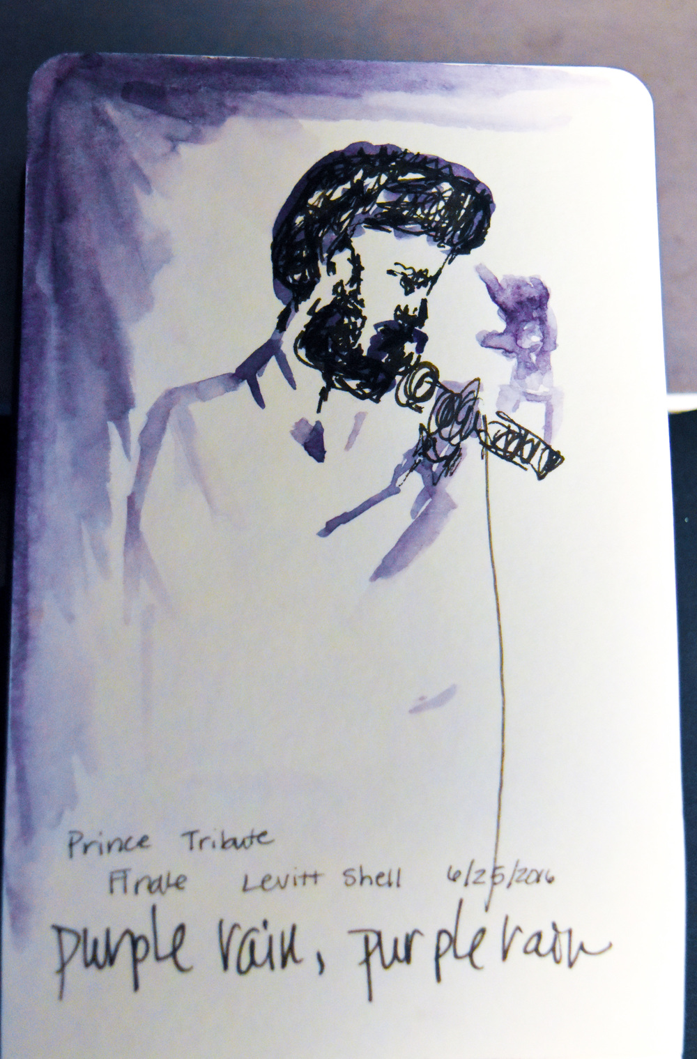 """The finale of the concert was a beautiful rendition of Prince's """"Purple Rain"""". It was a touching tribute to the recently deceased musical artist."""