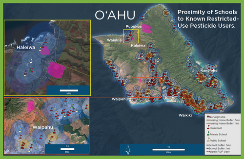 Click on image to go to maps of all Hawai'i islands.