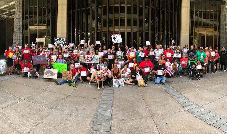 Exactly one year prior to the apparent defeat of the HB 1362 water theft bill, many of us gathered in the same place, at the Capitol, to fight for the landmark passage of SB 3095, Hawai'i's first pesticide regulation.