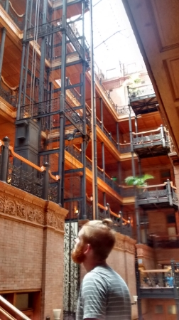 We stopped at the Bradbury Building, which is gorgeous.