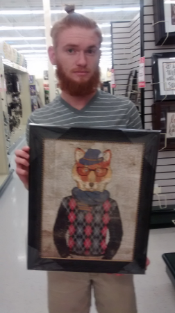 On the way home we stopped at Hobby Lobby and Andy found a picture of his spirit animal. No vacation is complete wihtout that!