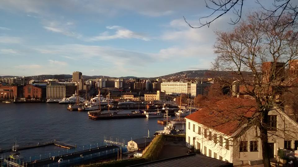 The view of Oslo from Akershus.