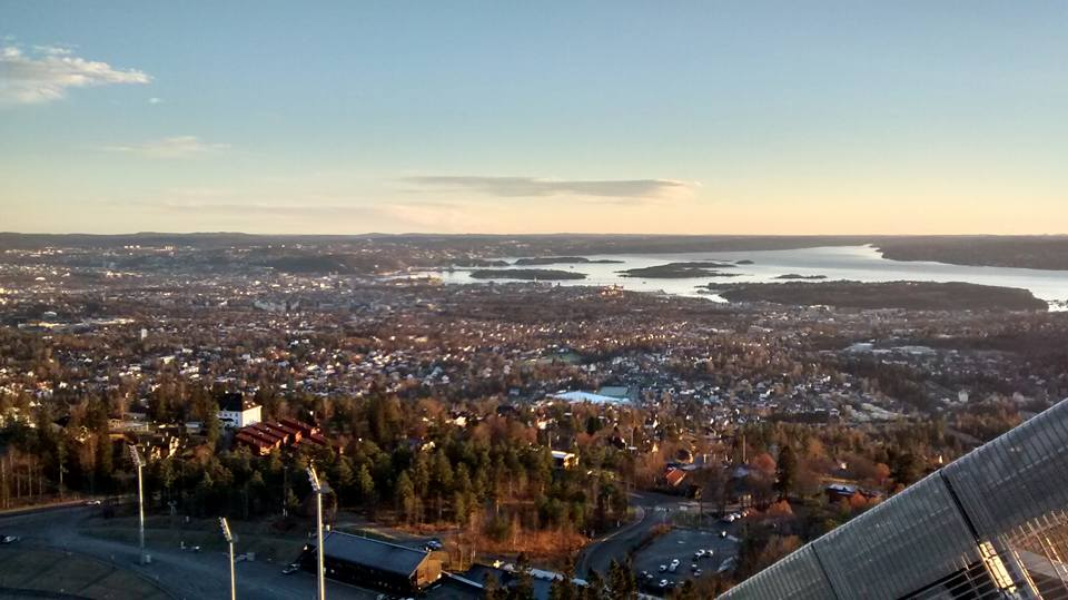 The view of Oslo from the jump.