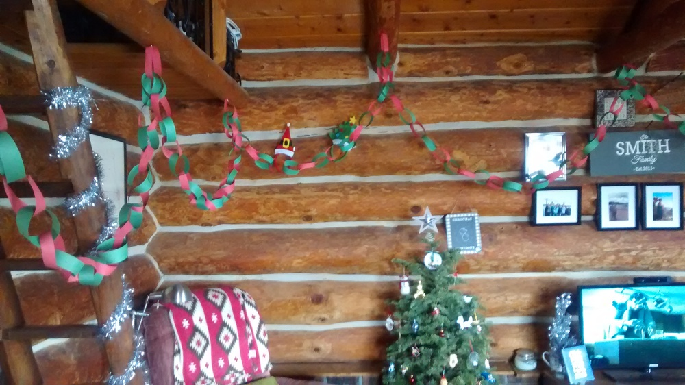 Christmas chains everywhere!