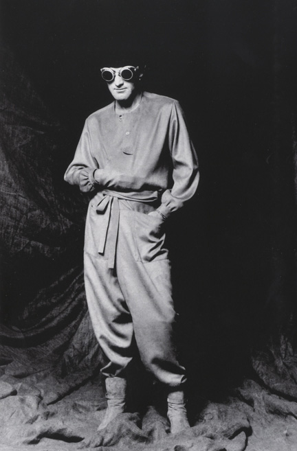Walter Albini in his own design, 1976