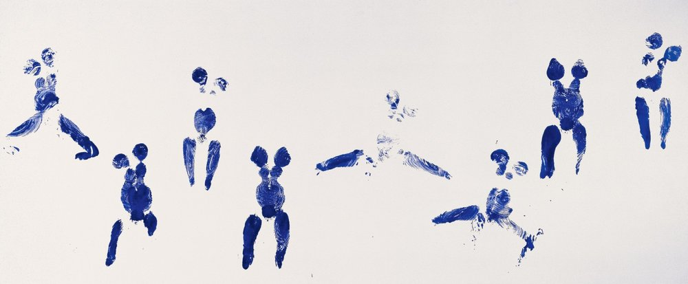 YVES KLEIN, UNTITLED ANTHROPOMETRY (ANT, 106), 1960