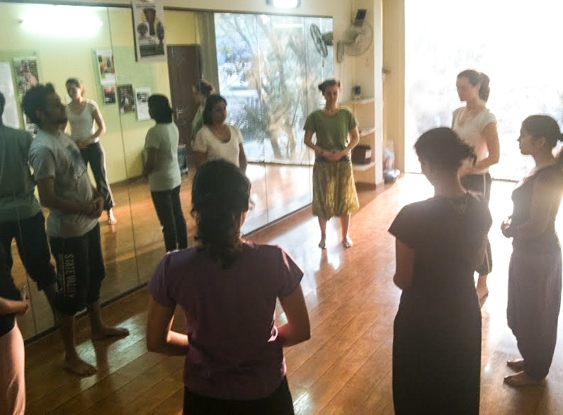 Rachel teaching an expandance workshop in Bangalore, India