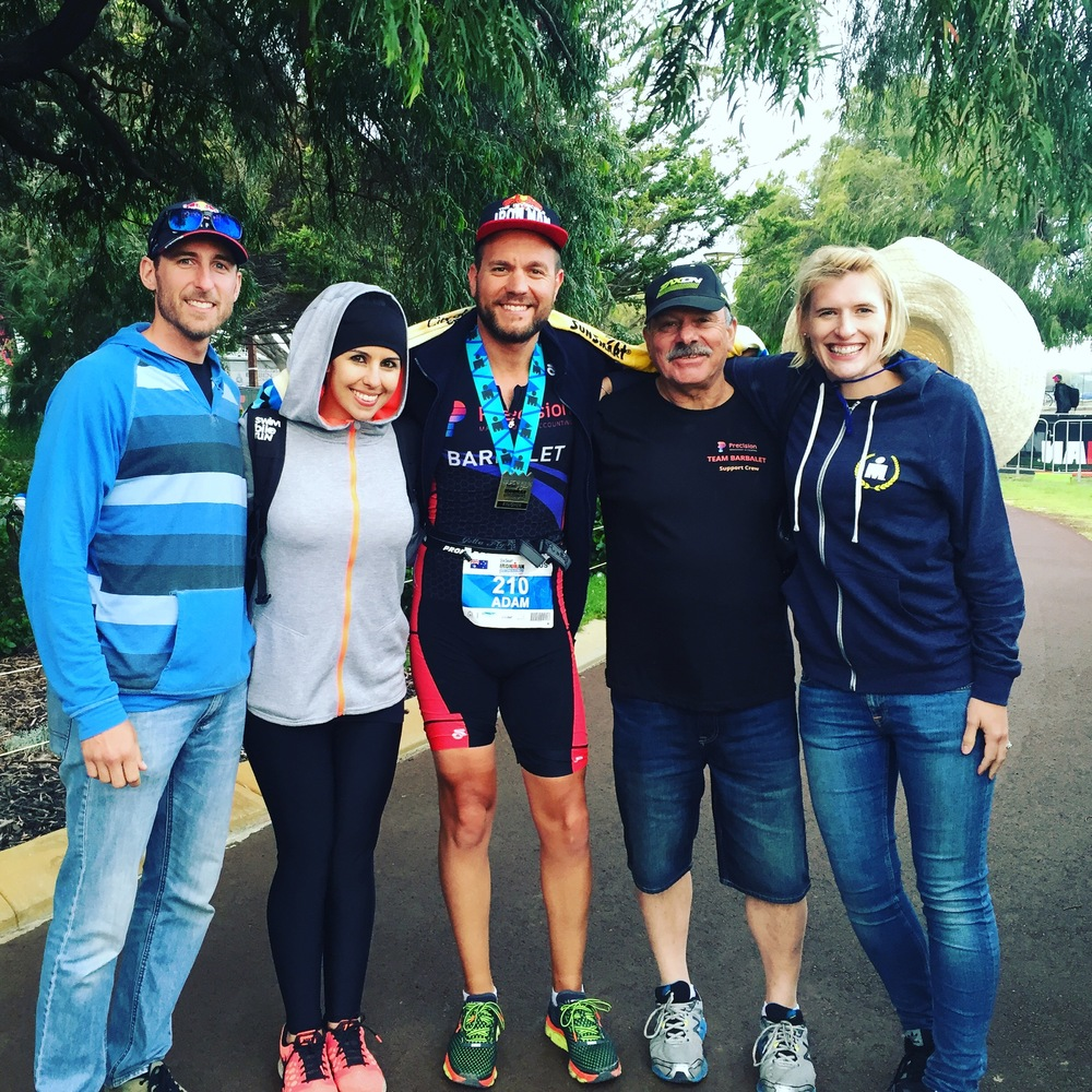 Our Ironman and his support team