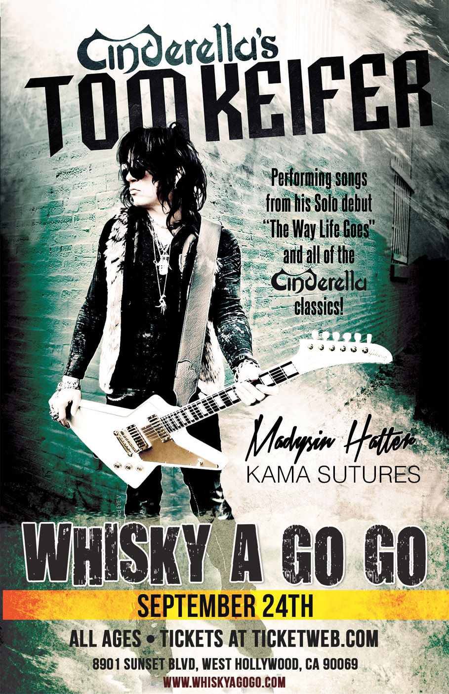 MADYSIN HATTER's next LIVE SHOW is in LOS ANGELES at the world famous WHISKY A GO GO on 9/24, where she is the direct support for Cinderella's TOM KEIFER.