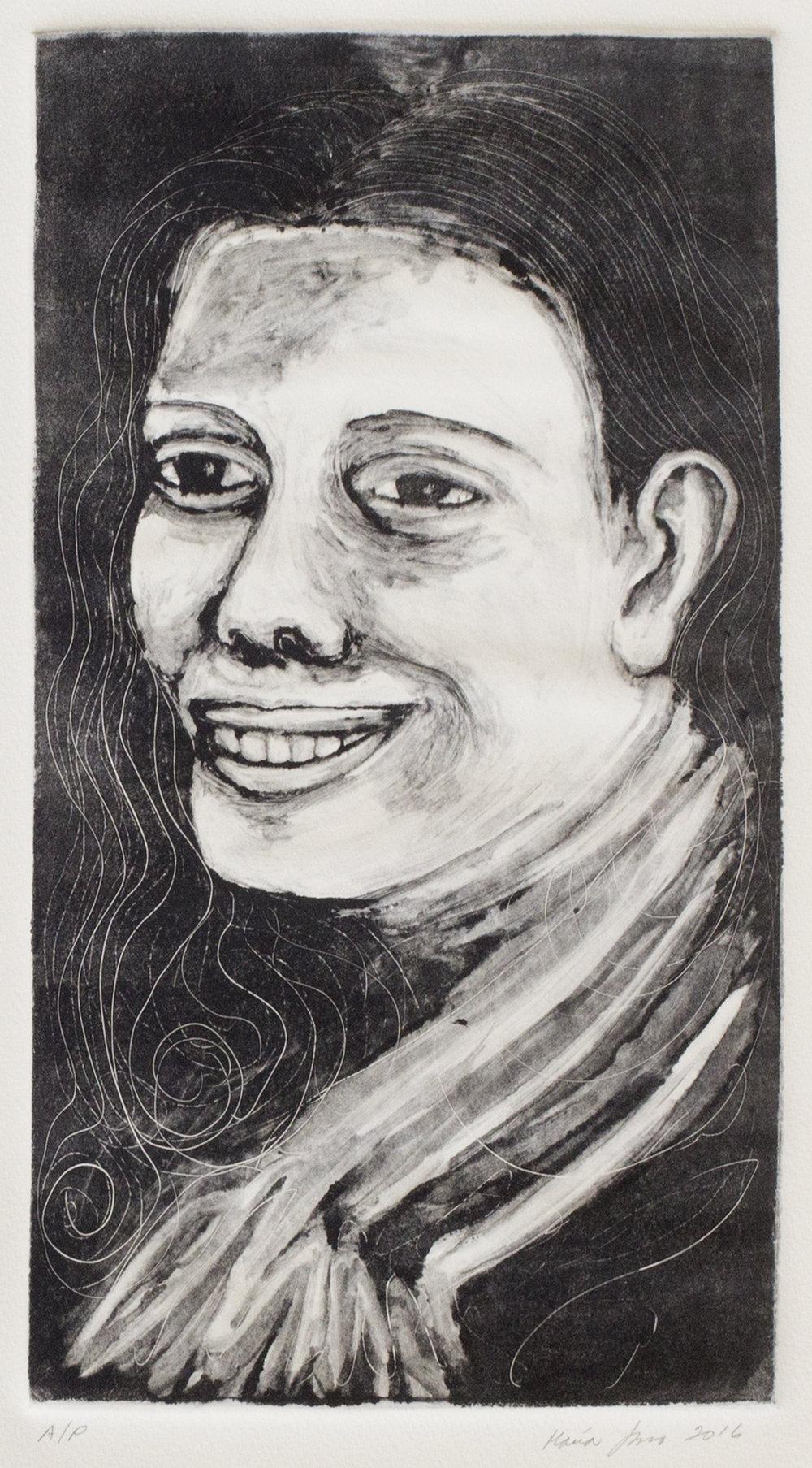 Young Tia Olga (Ghost Print), 2016
