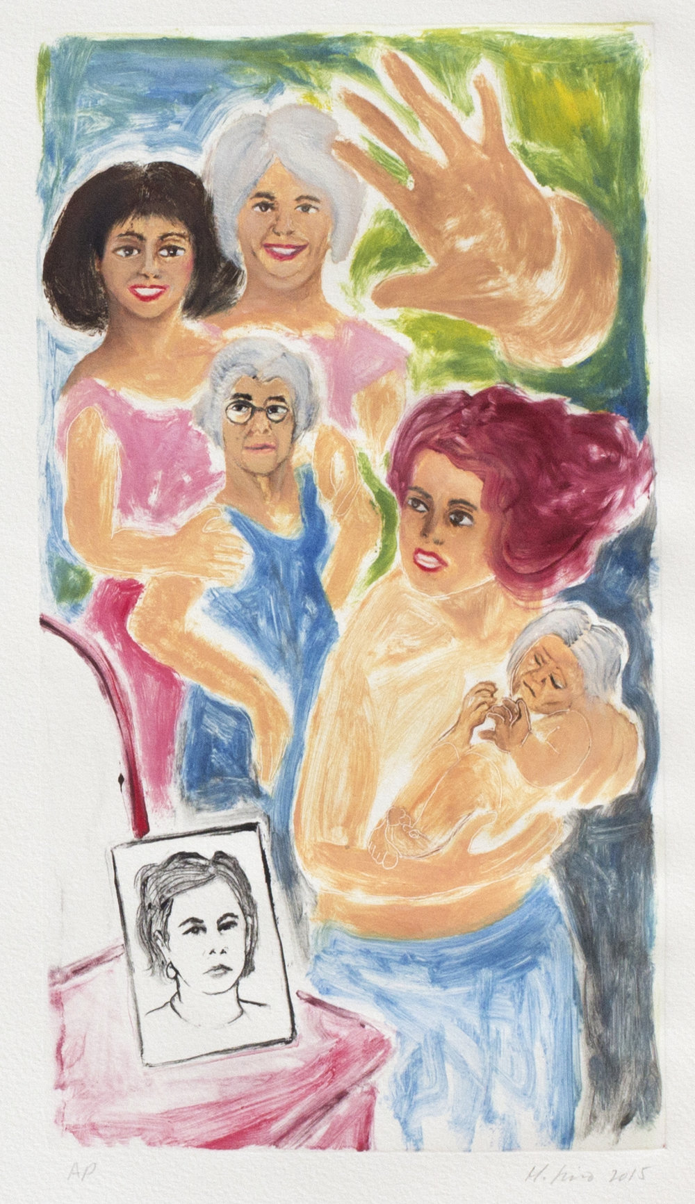 Autorretrato con mis madres/Self-portrait with My Mothers, 2015