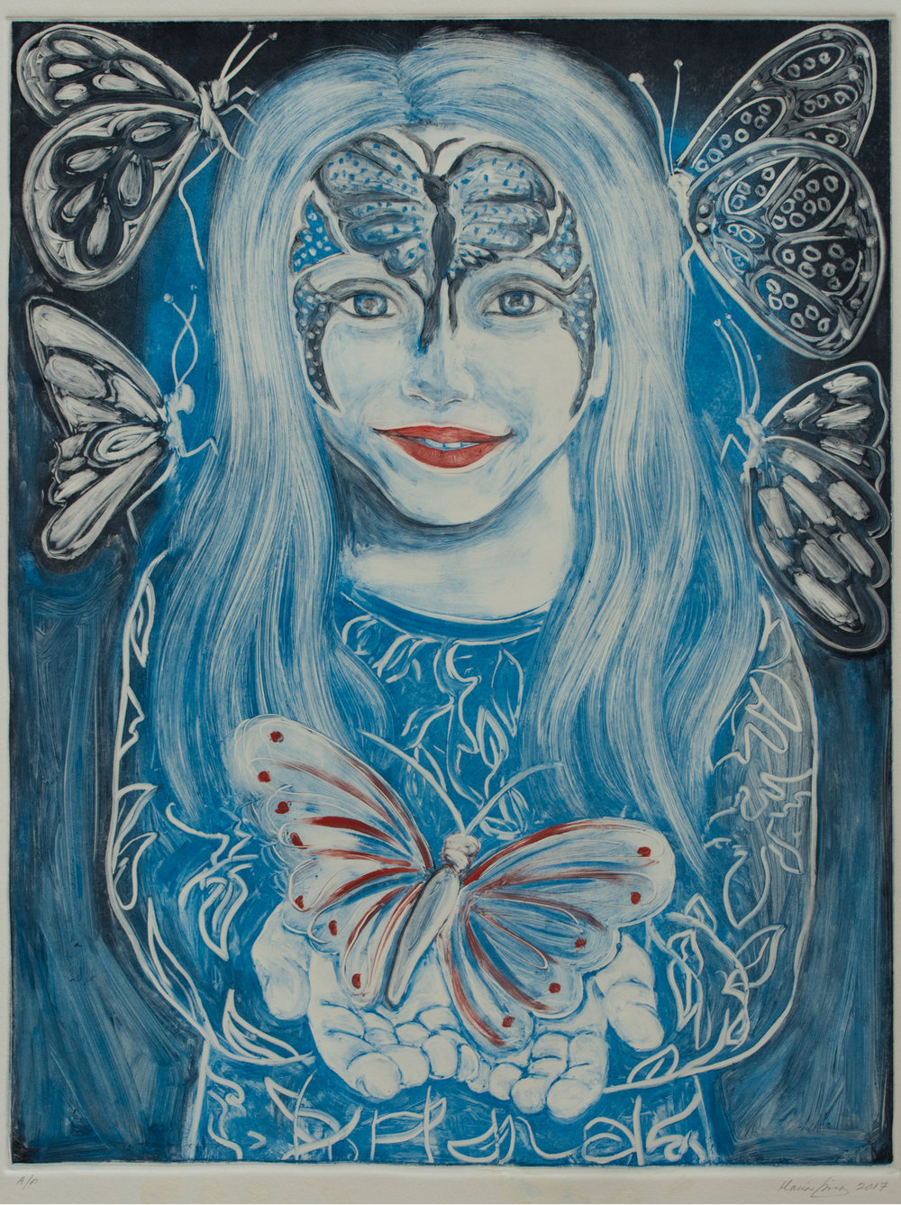 Mia with Butterflies, 2016