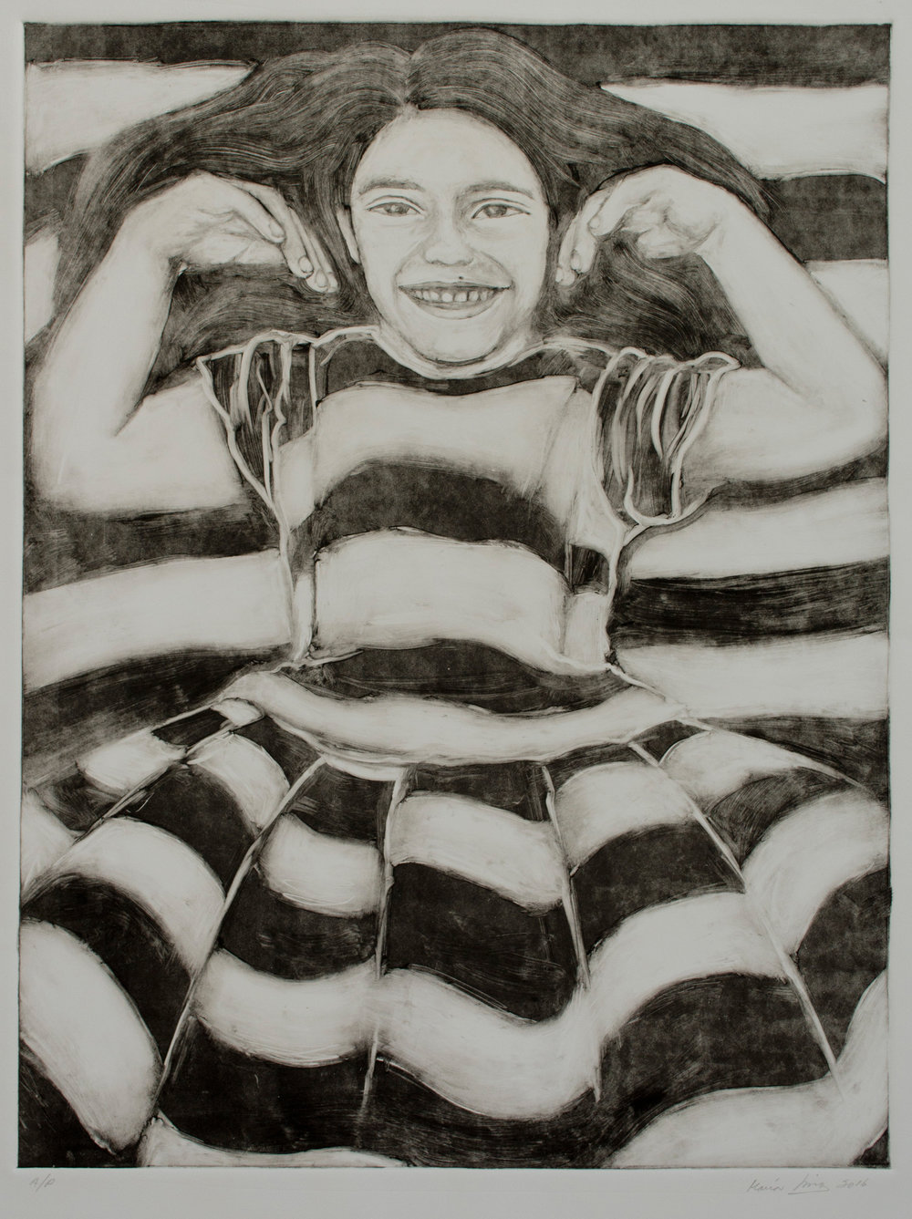 Sophia with Stripes, 2016