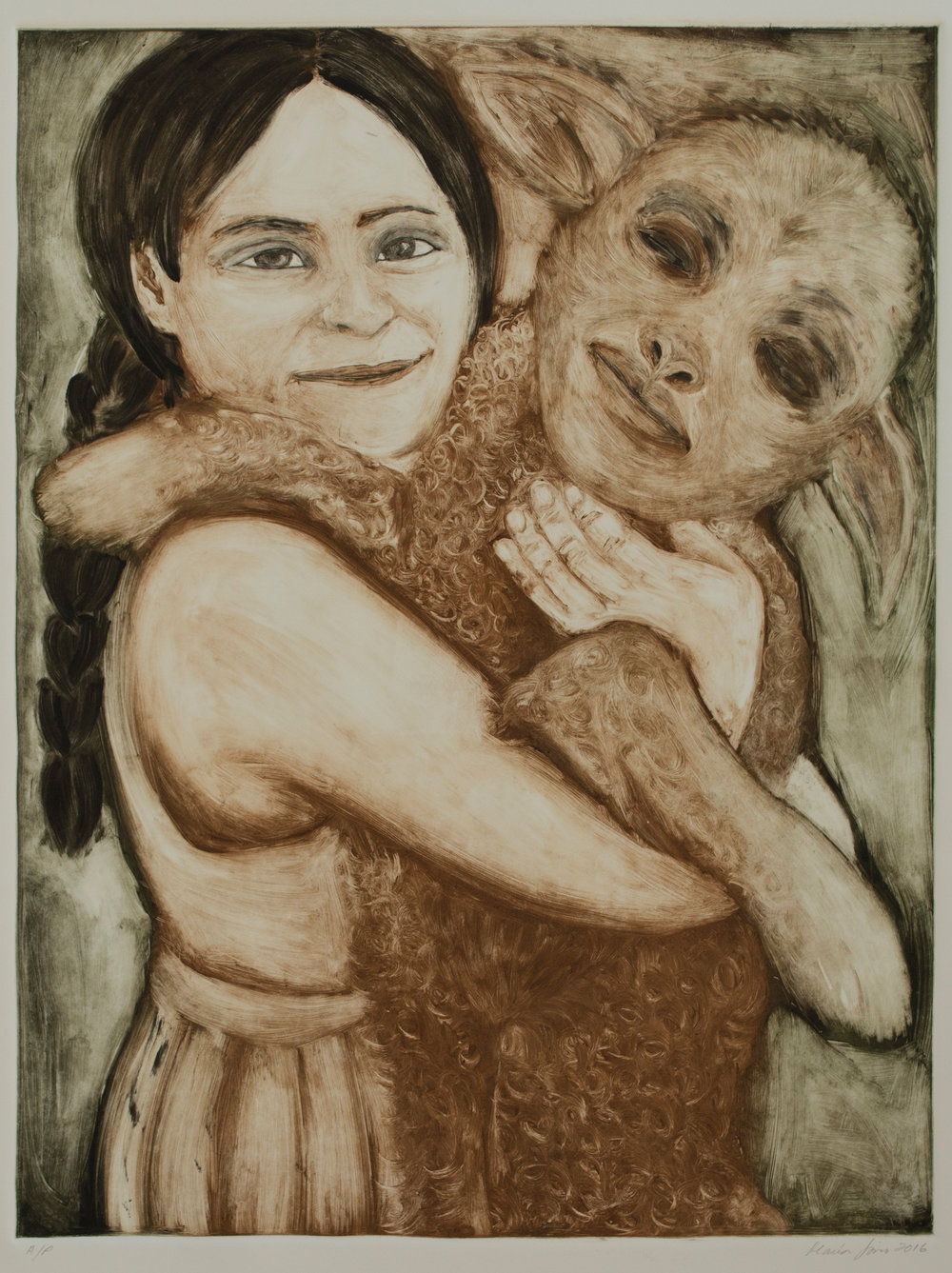 Girl Carrying Lamb