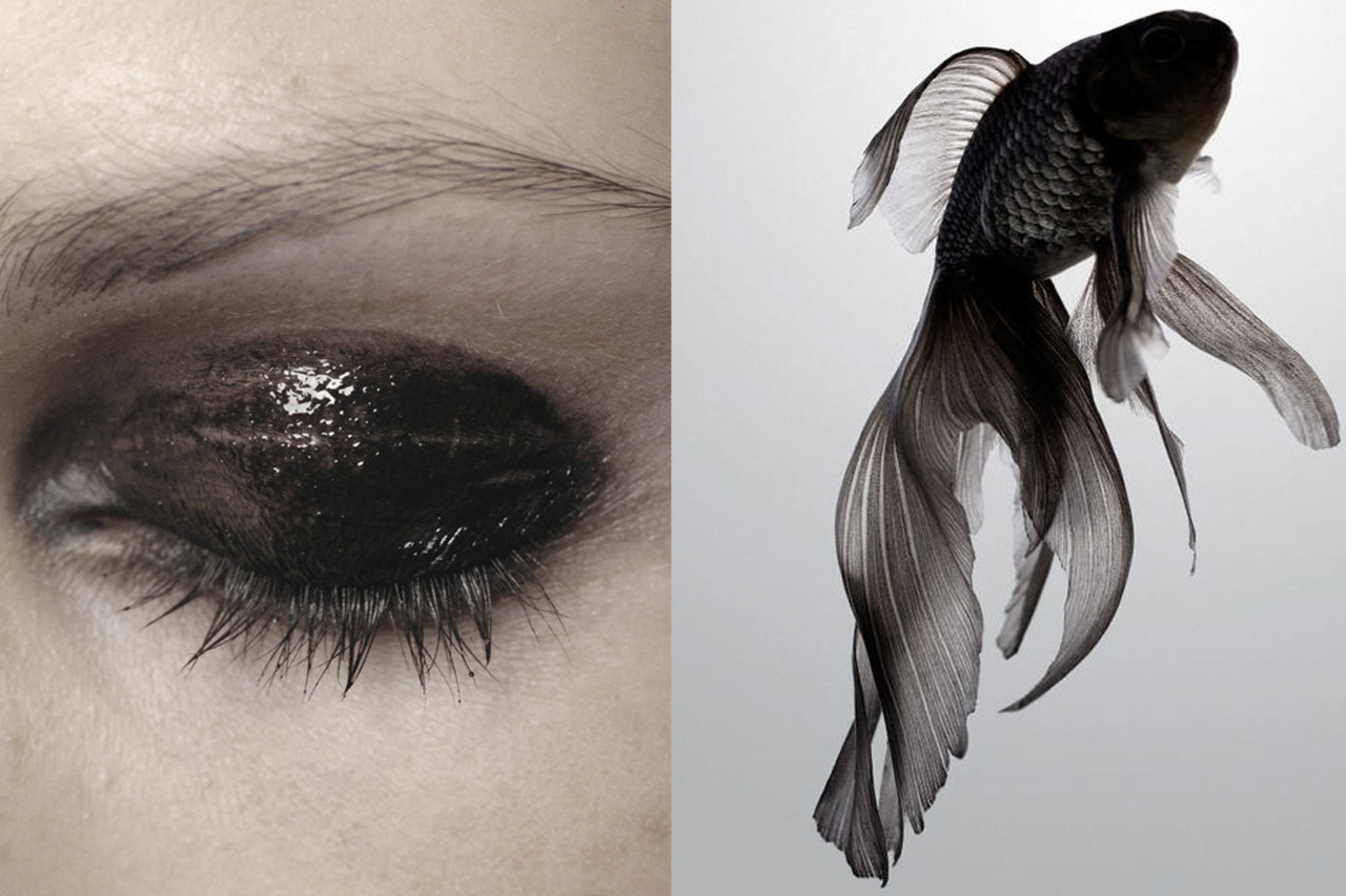 whereiseefashion: Match #83 Make-up at Givenchy Haute Couture Fall 2007 | Black Moore goldfish More matches here