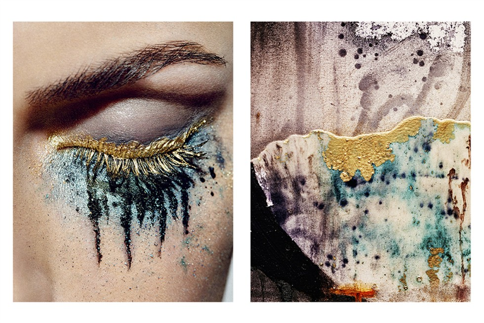 wgsn :     Art inspires beauty in this stunning new shoot from photographer  Christopher Fenner . Make-Up artist  Stephanie G-M  was inspired by the paintings of  Rebecca Fontaine-Wolf  for a six part story. Click  here  to see the full effect.