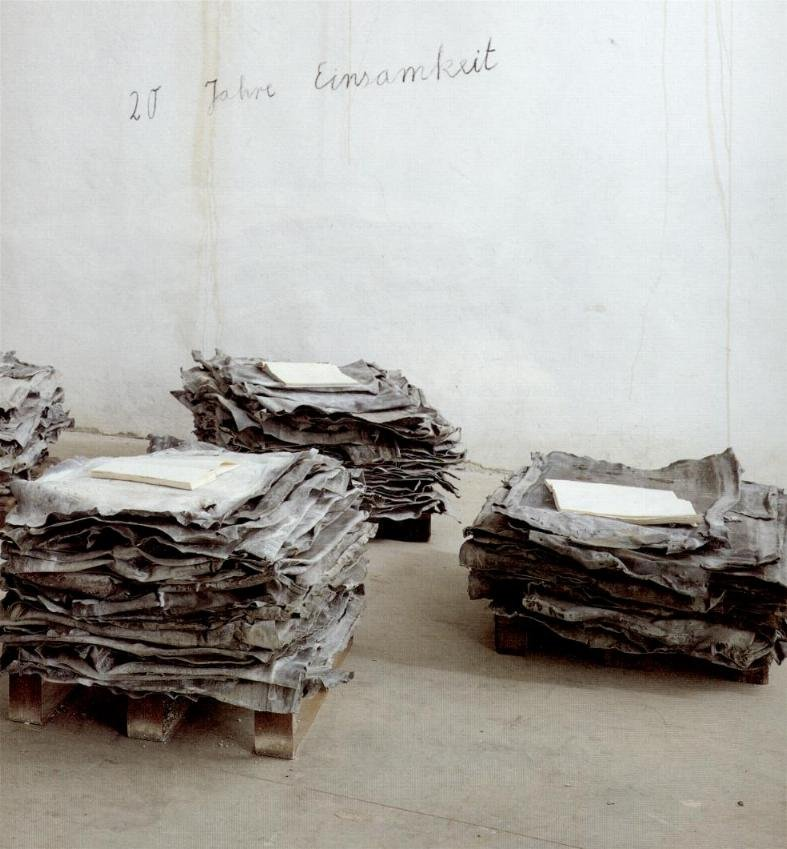 gallowhill: anselm kiefer, lead sheets, 1998