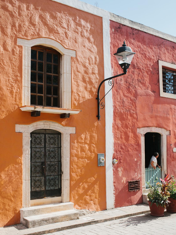 clubmonaco: Brightly colored buildings in Valladolid. -Brian Ferry