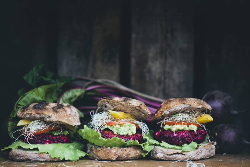 veganfeast: happyvibes-healthylives: Beet and Feta Burgers Vegan cheese please