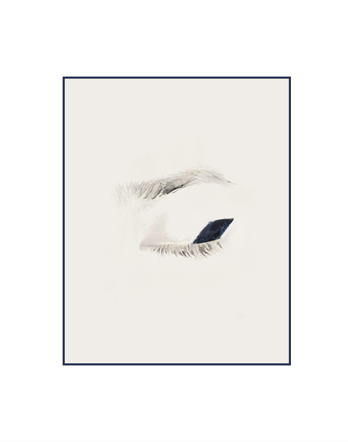 decadediary: Derek Lam's Spring '14 navy cube lined eyes  Blog Post: Spring Blooming « Illustration by Decade Diary