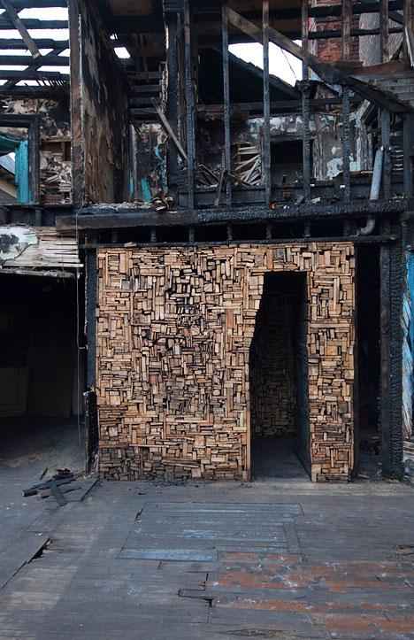 artcomesfirst :     Catie Newell, Salvaged Landscape. Detroit, MI.