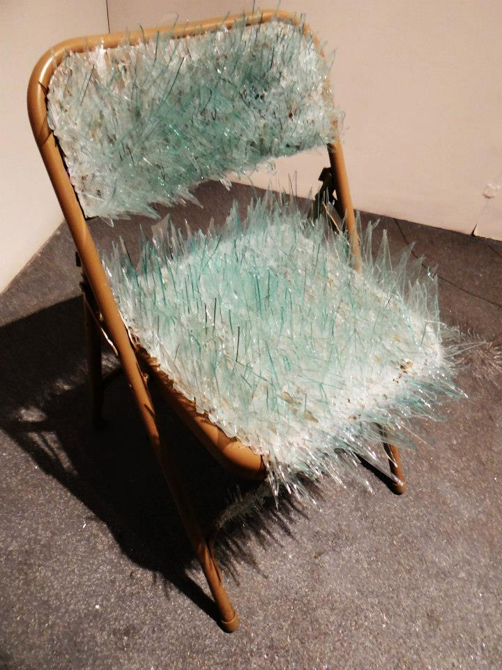 tumblropenarts: Artist Name:  Emily Hardman Tumblr: http://emilyhardman.tumblr.com/ Come take a pew - Steal Chair, Glass
