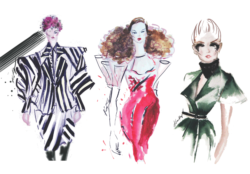 2013. These illustrations are from a collaboration with the trend forecasting company, WGSN. I drew one look per city during fashion week and they featured it on their Tumblr page.  Let me know what you've been able to accomplish by being persistent!