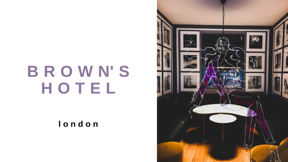The only thing that tops my love for travel is my deep love for unique experiences that spark my creativity. I cling to every curated and organic touch in shop, hotel, airport, or neighborhood that I come across when I travel. At the start of spring, I had the opportunity to experience a night at Brown's Hotel, which is the oldest hotel in London. The intimacy and thoughtfulness of every feature captured me upon arrival and captured me and had me yearning to explore every nook of the building.    The hotel was built in 1837, and has a history of hosting aristocracy, diplomats, politicians, and writers from all over the world. Apparently, it was one of the few clubs that welcomed women in the 19th century, which made it even more befitting that my visit fell during International Women's Month. The photos and illustrations below captures my experience and stay at Brown's hotel.
