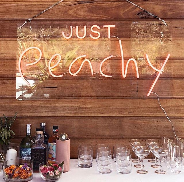 Just P E A C H Y 🍑 ⇢ new neon, available for hire. Send a love letter to info@whatshesaidco.com ♥