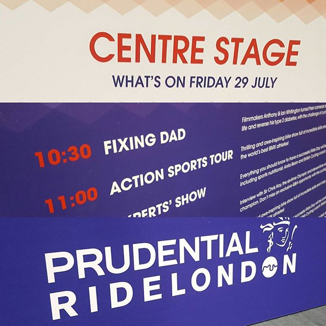 Dad's opening the show at Prudential Ride London!