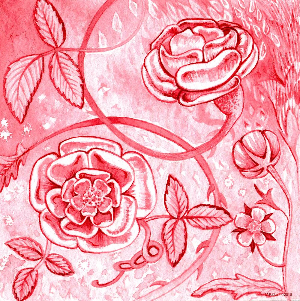 No. 3 Alizarin Crimson by Schmincke. Alizarin Crimson is a synthetic version of Madder Lake. Lakes are made from dyes made from plant material and not ground minerals. I wanted to make a similar flower to the Minnesota Pipestone one and it quite naturally came about that the pipestone flowers are more stone like than the alizarin ones. I noticed this after I was looking at the two of them and thinking about the different qualities of the flowers. This shows me how instincts are the way I can learn things as I am only to observe and contemplate what I have done in the same way as thinking of a dream upon waking.
