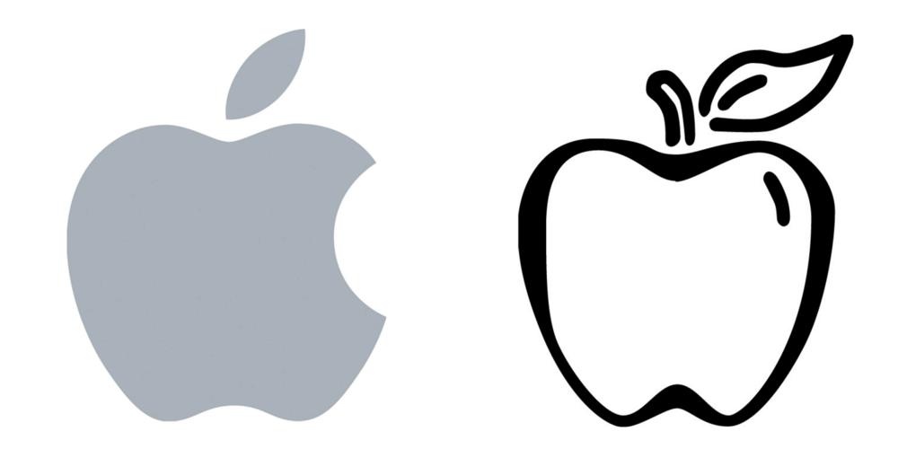 apple-logo-versus-a-picture-of-an-apple