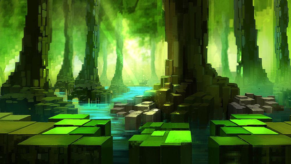 BitUp's painted pixelart.