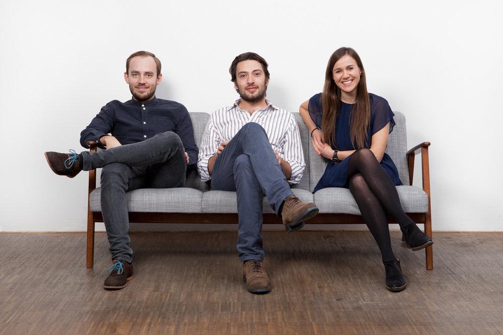 MEDIGO Founders: Pawel Cebula, Ugur Samut, and Ieva Soblickaite
