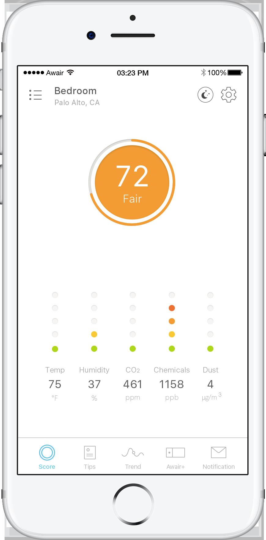 Awair App Score.png
