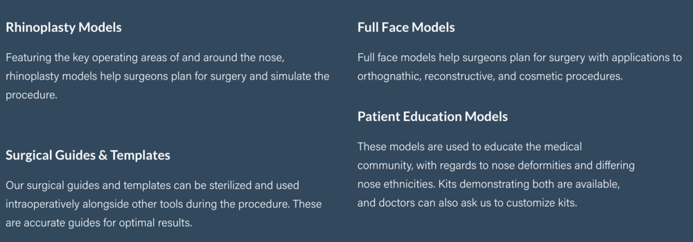 Examples of the types of 3D models MirrorMe3D offers. Image Courtesy of MirrorMe3D.
