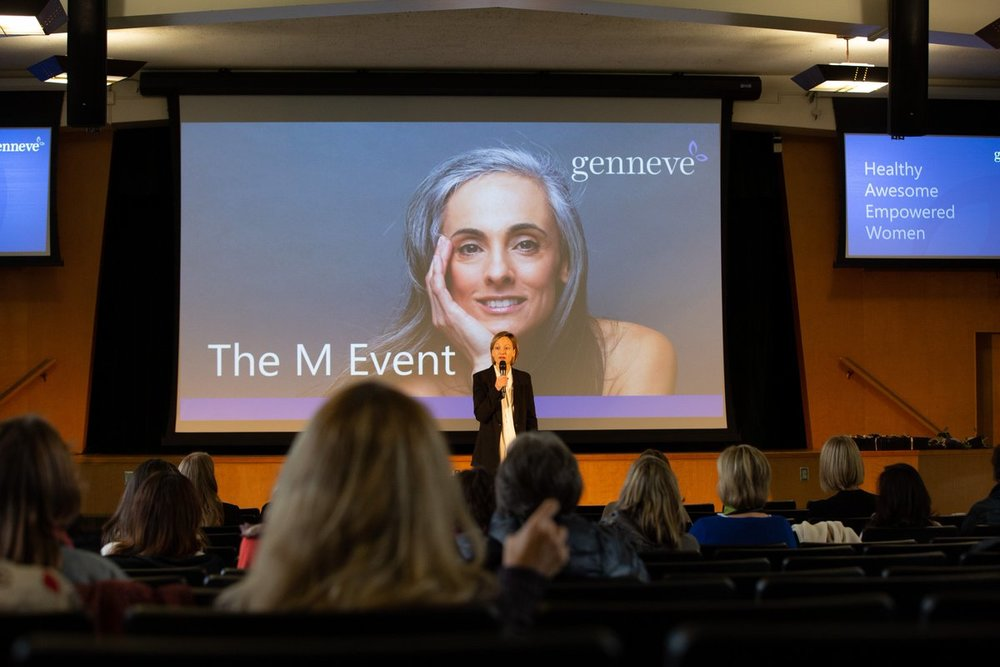 Jill Angelo speaking at genneve's first M event. Image source:    JumPic.com